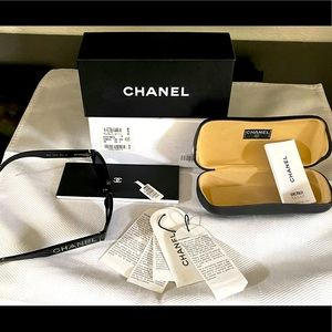 Chanel SWAROVSKI Logo Sunglasses Italy 5060-B RARE